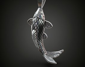 3D print model pendants Fish pendant