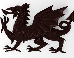 3D printable model Welsh Dragon bas relief for CNC