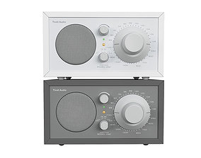 3D Tivoli Audio model ONE grey and white version