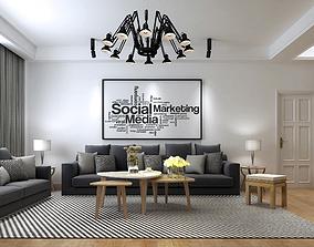 sofa Modern House 3D Model