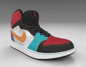 sole Nike Air Jordan 1 3D