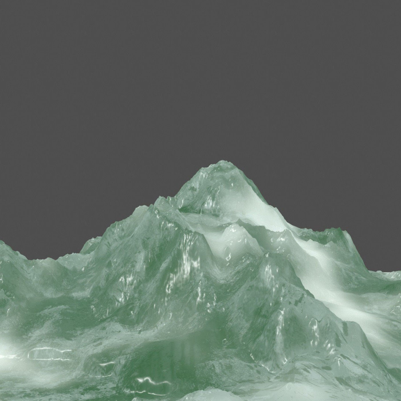 iceberg and volcano