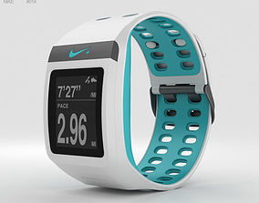 Nike SportWatch GPS White Sport Turquoise 3D
