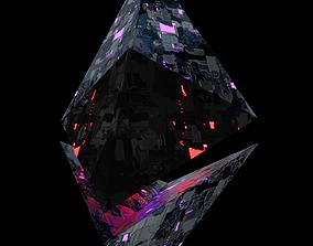 futuristic Ethereum icon 3D model