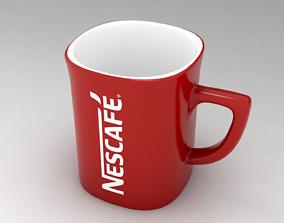 Red Mug Nescafe 3D asset