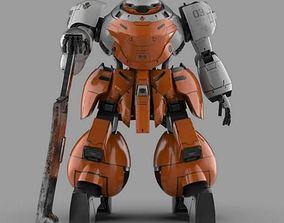 Landman Robot with Sword 3D model sword