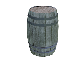 barrel PBR Texture 3D asset game-ready