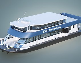 3D asset New York East River Ferry