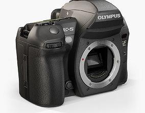 3D asset Olympus E-5 body DSLR camera