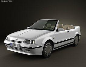 Renault 19 convertible 1988 3D model