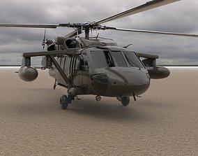 3D model Rigged Helicopter V1 Cinema 4d
