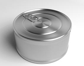 3D model Tin Can - Short