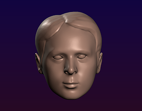 Man head 17 Male head 3D printable model