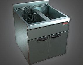 KTC - Industrial Standing Deep Fryer 03 - PBR 3D asset 1