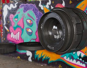 Helios 44-4 lens 3D model
