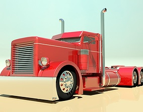 Hot Rod Semi Truck 3D