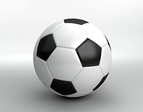 sports 3D model game-ready Soccer Ball