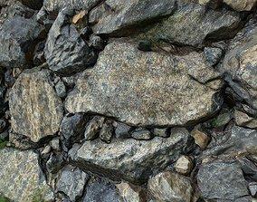 Rock cliff low poly 3D asset