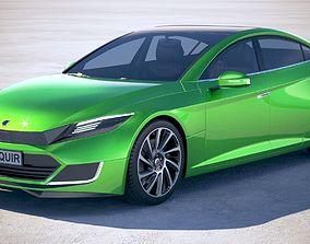 3D Generic Electric Sedan 2 2017