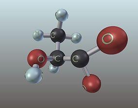 3D printable model Lactate Molecule