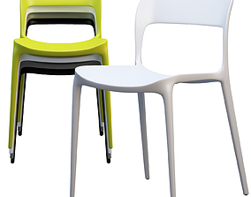 Bontempi Gipsy Dining Chair 3D