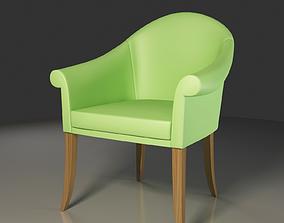 3D model Peanut Green Leather Club Chair