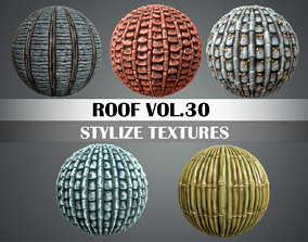 3D model Stylized Roof Vol 30 - Hand Painted Texture