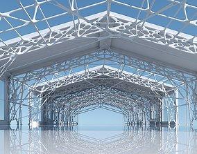 3D model Futuristic Architectural Structure 12
