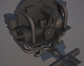 Printable VW engine motor