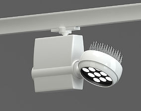 3D White Modern Circuit Track-Lamp