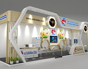 3D business Exhibition Stand 14x3m