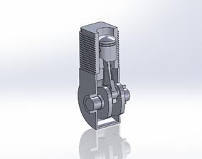 Piston Cylinder Mechanism 3D