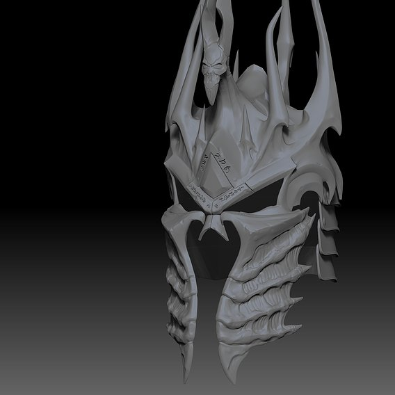 Lich king helm of domination for 3d printing