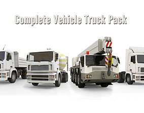 3D asset Complete Vehicle Truck Pack