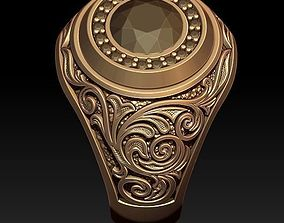 man signet ring with ornaments 3D print model