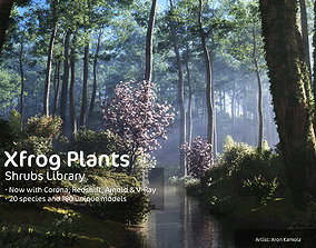 2020 XfrogPlants Shrubs Library 3D