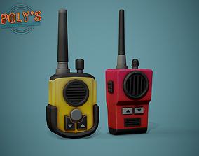 Walkie Talkie Radio Set - Low Poly 3D asset