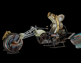 Turbo Mule Hover Motorcycle 3D asset realtime