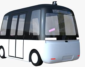 3D model Muji Gacha autonomous minibus