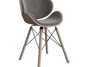 Corvus Madonna Mid-century Teal Accent Chair 3D model