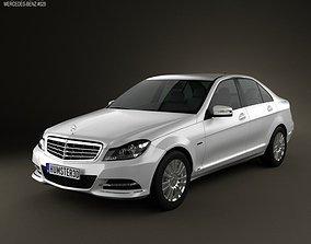 3D model Mercedes-Benz C-class sedan 2012