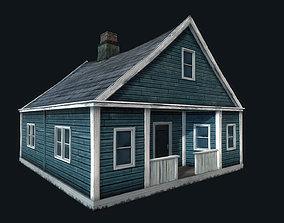 3D asset Abandoned Houses 02