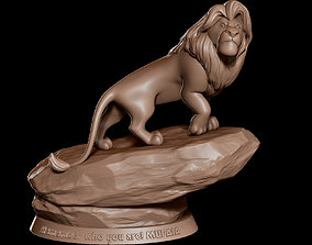 Mufasa - The Lion King sculpture statue 3D Print Ready