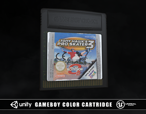 3D model Gameboy Color Cartridge