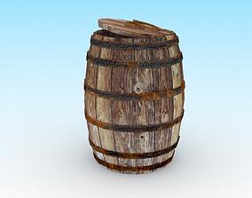 Wooden barrel 3 3D asset