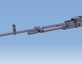 3D model Machine Gun NSVT NSV KORD