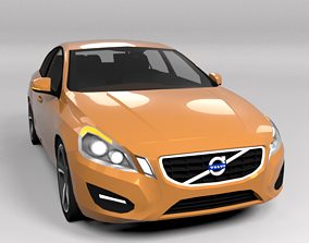 3D model low-poly VOLVO S60 LOWPOLY