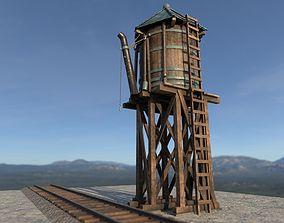 3D asset Old West Railroad WaterTank