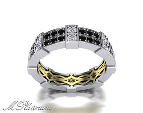 Ring 8 pair gem 3D printable model
