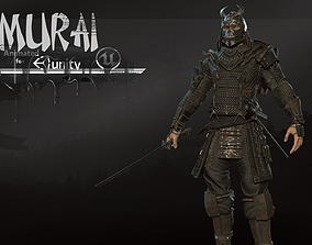 3D asset Samurai remastered 2